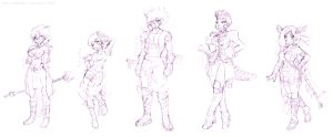 SFSD Character Designs Wip by GH07