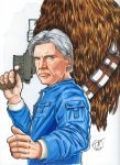 Star Wars Han Solo Copic marker sketch by sithlord151