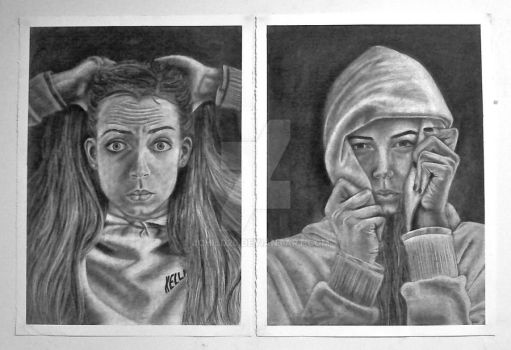 Reveal and Conceal Self Portrait by jchild26