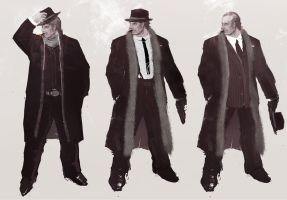 Mobsters sketch 1 by Panda-Graphics