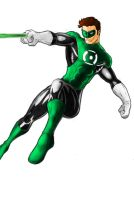 Green Lantern, painting. by GustavoDentinho