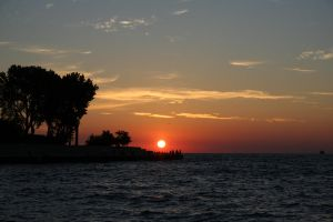 Chicago Harbor Sunrise by cookietroglodyte