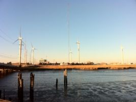 Atlantic City Wind Turbines by towerpower123