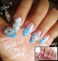 Nail Art: Cutie Blue by CandyRobot