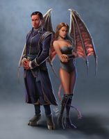 Morgan and Mordiggion commission by ElynGontier