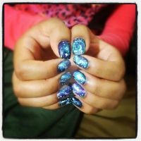 Galaxy Nails!!!! by FatimattiDesigns