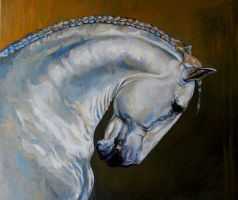 Horse oil painting by MeWannaLearn