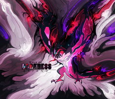 Yveltal, 'Expand Darkness' Smudge Tag (Pokemon) by NigglezNGigglez