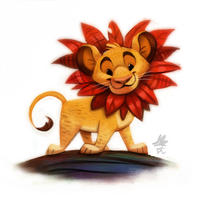 Daily Paint #638. Simba by Cryptid-Creations
