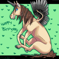 happy birthday horsey by sketch-it