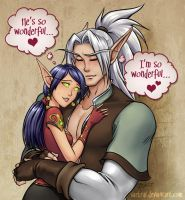 Blood Elf Love by Saehral