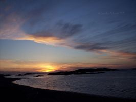 Ross Beach at Sunset by JenniferMulkerrin