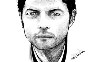 SPN - Castiel Sketch by fishydotlove