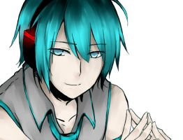 Mikuo Lineart color by velvetcat09