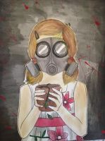 The Gas Mask #1 by artbaby08