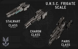 UNSC Frigate Scale by unusualsuspex