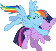 Rainbow Likes Alicorn Twilight by birthofthepheonix