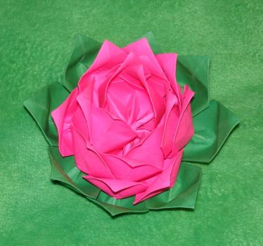 Origami lotus 4 breast cancer by pandaraoke