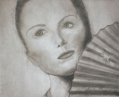 Woman with Fan by Adelia-Cooperwing