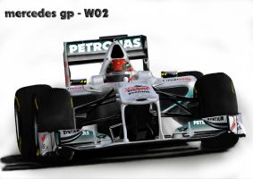 F1 Mercedes GP - W02 2.0 by F1speedox96