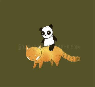 Panda Riding Panda by joegogo