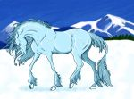 Winter Unicorn by SunGryphon