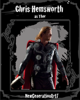 Chris Hemsworth as Thor Celeb Trading Card by NewGenerationArt7