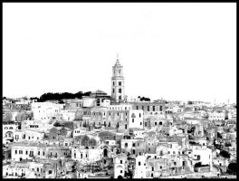 Black and White City by IdeandoGrafica