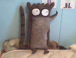 Life sized Rigby by PlushBuddies