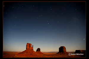 Monument Valley by Moonlight by narmansk8