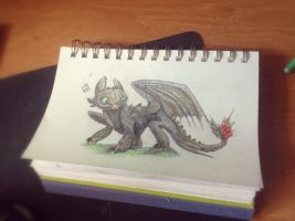 Speed Art - Toothless by ISpyrq