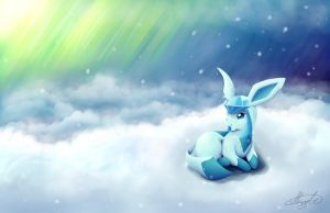 Glaceon Wallpaper by imadrummerXD