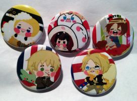 Set of Hetalia Buttons by PauAndLoma