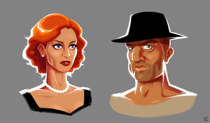 Mrs Doe and Mr Smith by inkjava
