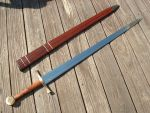 Longsword with Burl and Brass by LongshipArmoury