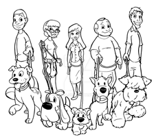 Flyer for Dog Walking vectorized by OHea