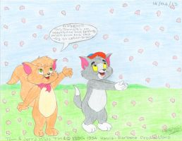 The Little Tom and Cindy-Lou catching petals by AntoninoCanino82