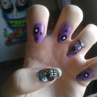 Courage The Cowardly Dog nails. by KashaKiller