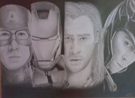 the avengers by esilena