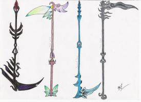 Elemental Scythes by MadMother88