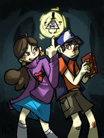 gravity falls by alalampone