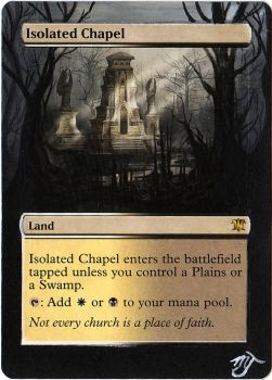MTG Card Alter - Isolated Chapel by InVenatrix
