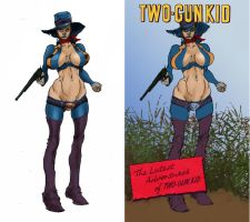 Two Gun Kid is a Woman by Selkirk (COLORS) by carol-colors