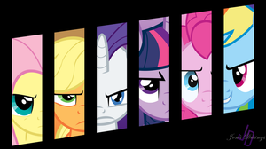 My Little Ponies: Friendship Is Magic Wallpaper v2 by JonaShadowDesigns