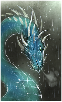 I'll do my dragon in the rain by Drkav
