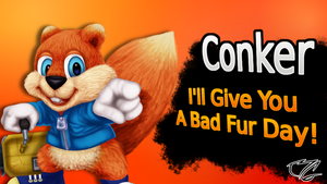 Conker Smash Card by MrBigTheArtist