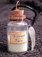 Mermaid Tears Jar Charm by lady-cybercat