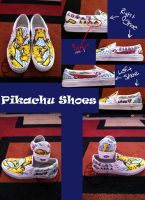 Pikachu Shoes by CrazyForJapan123