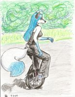 Unicycle Furry by Kathalaura