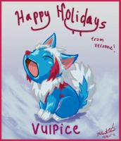 Happy Holidays Vulpice by TheCreationist